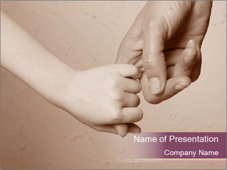 Hand together love family sign PowerPoint Templates