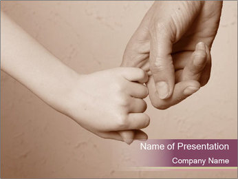 Hand together love family sign PowerPoint Template - Slide 1