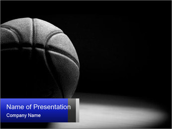 White Basket Ball PowerPoint Template - Slide 1