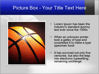 White Basket Ball PowerPoint Template - Slide 13