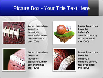 White Basket Ball PowerPoint Template - Slide 14