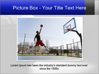 White Basket Ball PowerPoint Template - Slide 16