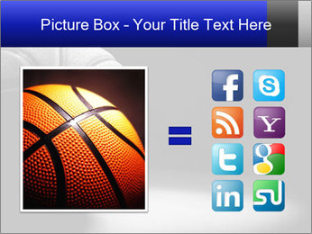 White Basket Ball PowerPoint Template - Slide 21