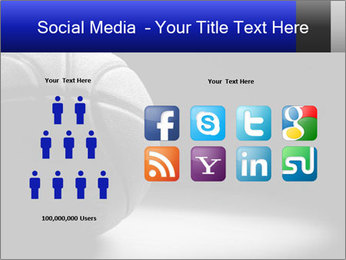 White Basket Ball PowerPoint Template - Slide 5