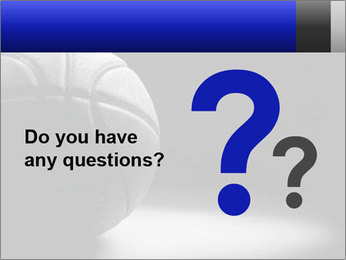 White Basket Ball PowerPoint Template - Slide 96