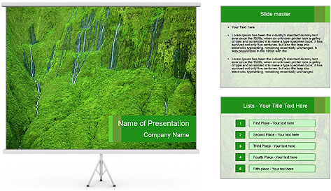 The 'Wall of Tears' has over 17 waterfalls flowing at once PowerPoint Template