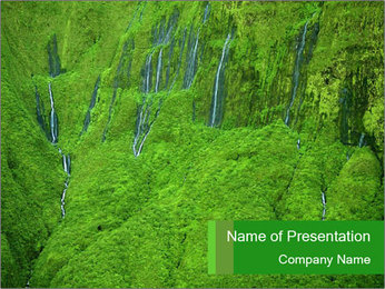The 'Wall of Tears' has over 17 waterfalls flowing at once PowerPoint Template - Slide 1