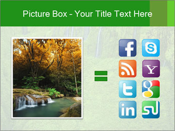 The 'Wall of Tears' has over 17 waterfalls flowing at once PowerPoint Template - Slide 21