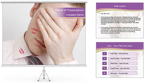 Husband Cheater PowerPoint Template