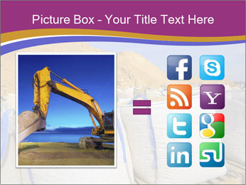 White big bag sand sacks quarry perspective PowerPoint Template - Slide 21