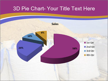 White big bag sand sacks quarry perspective PowerPoint Template - Slide 35