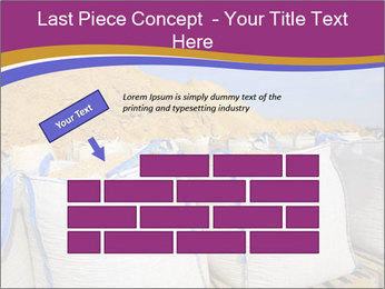 White big bag sand sacks quarry perspective PowerPoint Template - Slide 46
