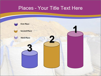 White big bag sand sacks quarry perspective PowerPoint Template - Slide 65