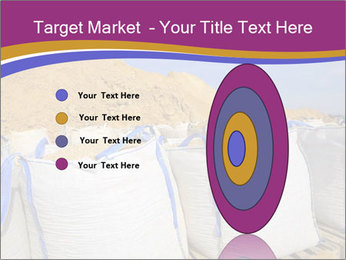 White big bag sand sacks quarry perspective PowerPoint Template - Slide 84