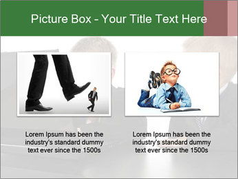 Two little boys dressed up in suits pretending to be businessmen PowerPoint Template - Slide 18