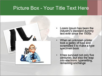 Two little boys dressed up in suits pretending to be businessmen PowerPoint Template - Slide 20