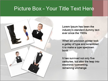 Two little boys dressed up in suits pretending to be businessmen PowerPoint Template - Slide 23