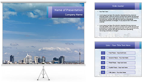 Skyline Donau City PowerPoint Template