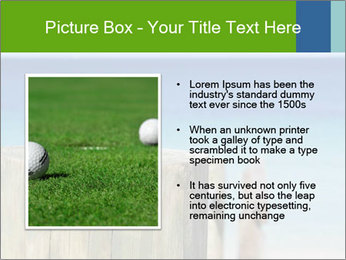 Golf ball on the background of the ocean PowerPoint Template - Slide 13