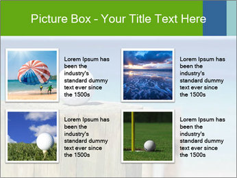 Golf ball on the background of the ocean PowerPoint Template - Slide 14