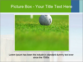 Golf ball on the background of the ocean PowerPoint Template - Slide 15
