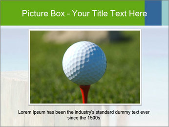 Golf ball on the background of the ocean PowerPoint Templates - Slide 16