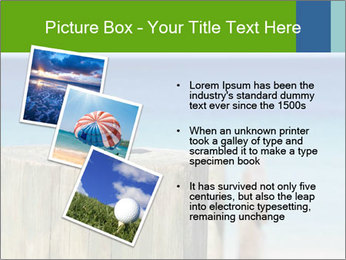 Golf ball on the background of the ocean PowerPoint Template - Slide 17
