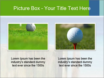 Golf ball on the background of the ocean PowerPoint Template - Slide 18