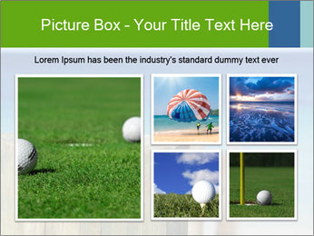 Golf ball on the background of the ocean PowerPoint Template - Slide 19