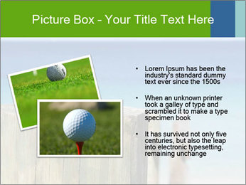 Golf ball on the background of the ocean PowerPoint Template - Slide 20