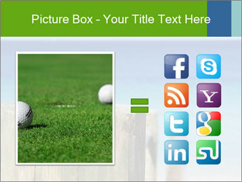 Golf ball on the background of the ocean PowerPoint Templates - Slide 21