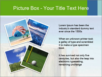 Golf ball on the background of the ocean PowerPoint Template - Slide 23
