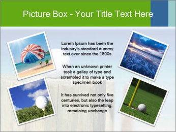 Golf ball on the background of the ocean PowerPoint Template - Slide 24