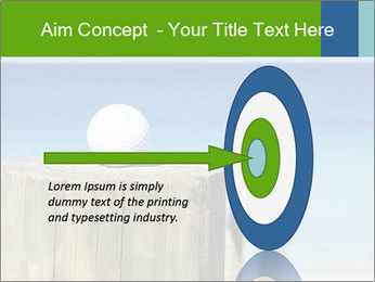 Golf ball on the background of the ocean PowerPoint Template - Slide 83