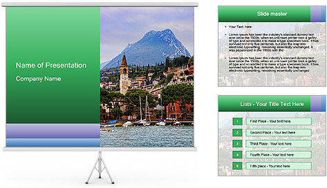 By Lake Garda, Italy PowerPoint Template