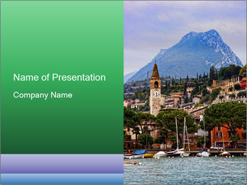 By Lake Garda, Italy PowerPoint Templates - Slide 1