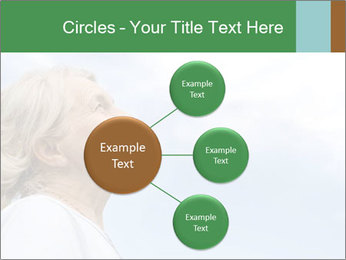 Beautiful older woman on the sky PowerPoint Template - Slide 79