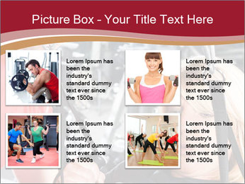 Personal trainer assisting PowerPoint Template - Slide 14