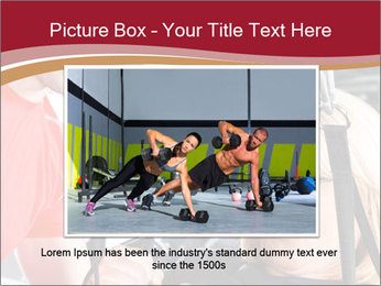 Personal trainer assisting PowerPoint Template - Slide 15