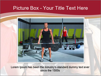 Personal trainer assisting PowerPoint Template - Slide 16