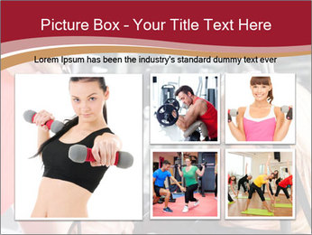 Personal trainer assisting PowerPoint Template - Slide 19