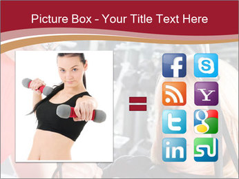 Personal trainer assisting PowerPoint Template - Slide 21