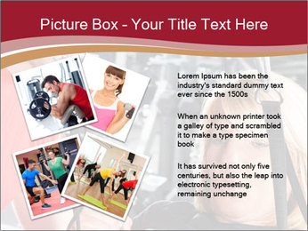 Personal trainer assisting PowerPoint Template - Slide 23