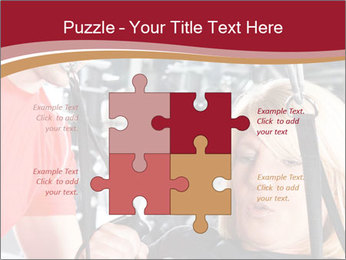 Personal trainer assisting PowerPoint Templates - Slide 43