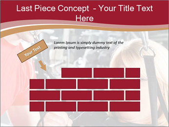 Personal trainer assisting PowerPoint Templates - Slide 46