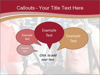 Personal trainer assisting PowerPoint Templates - Slide 73