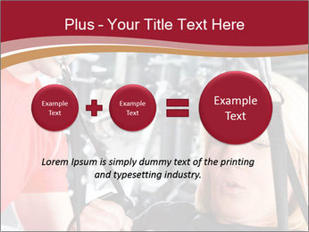 Personal trainer assisting PowerPoint Templates - Slide 75