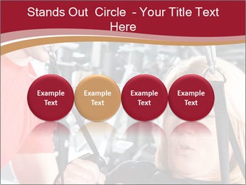 Personal trainer assisting PowerPoint Templates - Slide 76