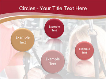 Personal trainer assisting PowerPoint Templates - Slide 77