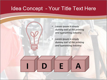 Personal trainer assisting PowerPoint Templates - Slide 80